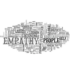 A global empathy deficit lessons text word cloud vector