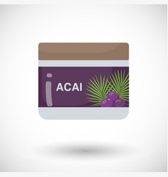 acai berry beauty product flat icon vector image vector image