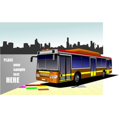 al 0613 bus 02 vector image