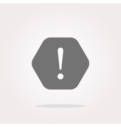 Attention sign icon Exclamation mark Hazard vector image