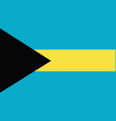 Bahamas flag for independence day and infographic vector