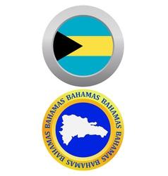 button as a symbol BAHAMAS vector image