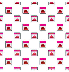 Calendar birthday pattern seamless vector