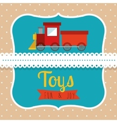 children toys design vector image