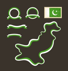 Colors of Pakistan vector image vector image
