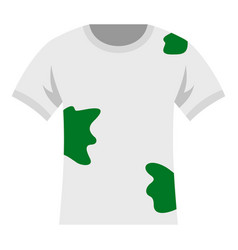 Dirty shirt icon isolated vector