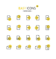 Easy icons 15d papers vector