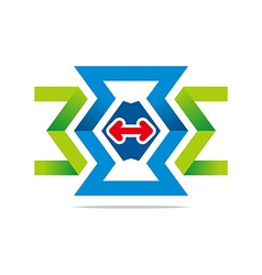 Element number 3 letter e arrow icon vector