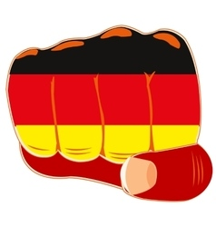 Flag of the germany on fist vector image