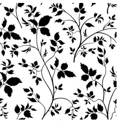 Floral seamless pattern garden leaves background vector
