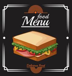 Food restaurant menu vector