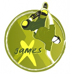 games symbol vector image