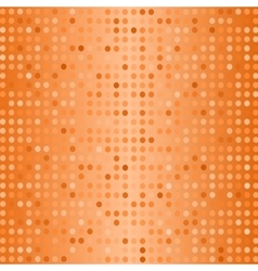 Halftone Pattern Dots on Orange Background vector image vector image