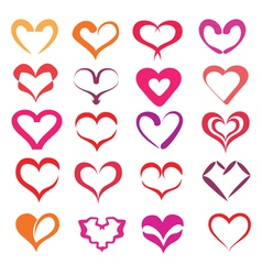 hearts collection vector image