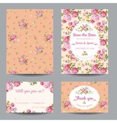 Invitation-Congratulation Card Set - for Wedding vector image vector image