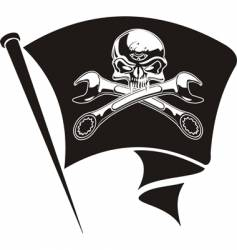 Jolly Roger flag vector image