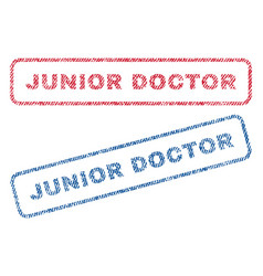Junior doctor textile stamps vector