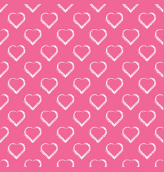 Love hearts valentin s day seamless pattern vector