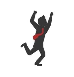 Man necktie avatar person silhouette icon vector image vector image