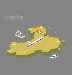 Map china isometric concept vector