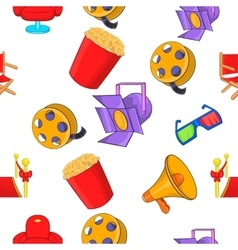 Motion picture pattern cartoon style vector