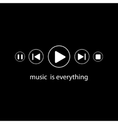Music is everything vector image