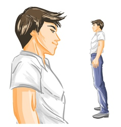Profile of handsome young man vector