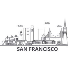 San francisco architecture line skyline vector