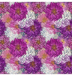 Seamless hand-drawn aster pattern vector