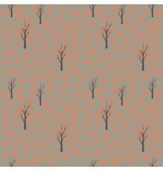 Seamless pattern with autumn leafs and trees vector image vector image