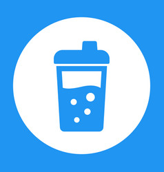 sport shaker icon over white vector image