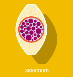 Sticker of the normal sesamoid bone external and vector