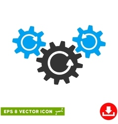 Transmission wheels rotation eps icon vector