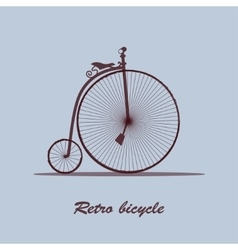 Vintage bicycle vector