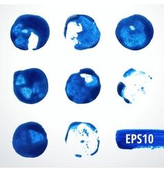 Watercolor blots set 2 vector