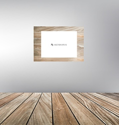 Wood frame wood floor vector