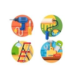 Tools for repair vector image