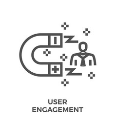 User engagement line icon vector