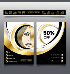 Business brochure-template for beauty salons and vector