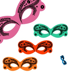 Decorated venetian masks vector