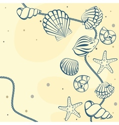 Seashell card vector
