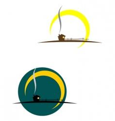 village symbols vector image