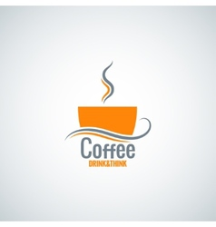 Coffee cup menu background vector