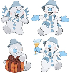 The complete set of snowballs vector image