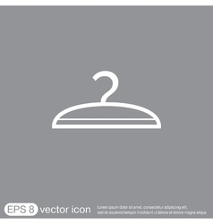 Hanger symbol and fashion icon hangers vector
