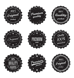 Set of vintage product labels - quality guaranteed vector