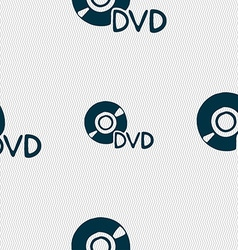 Dvd icon sign seamless pattern with geometric vector