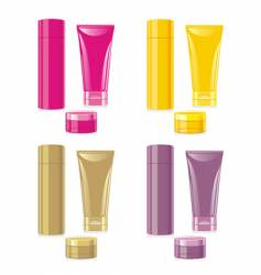 Face and hand cream set vector