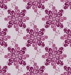 Baroque style flowers seamless pattern vector