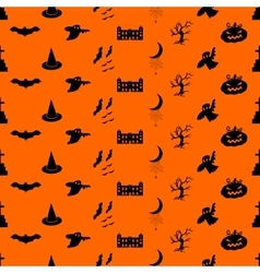 Halloween pattern easy change colors vector